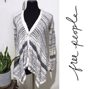 Free People Knitted Open Front Cardigan